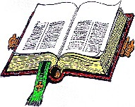A picture of the open book of life